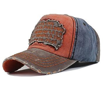 51bc0a986 Elwow Men's Distressed Vintage Baseball Cap Snapback Trucker Hat, Outdoor  Sports Baseball Hat, Hiking Hat, Running Hat