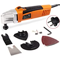 ماكينة تشذيب كهربائية متعددة الوظائف متعددة الاستخدامات 230 فولت لتشذيب الخشب، اداة متعددة الاغراض مع ورقة سنفرة