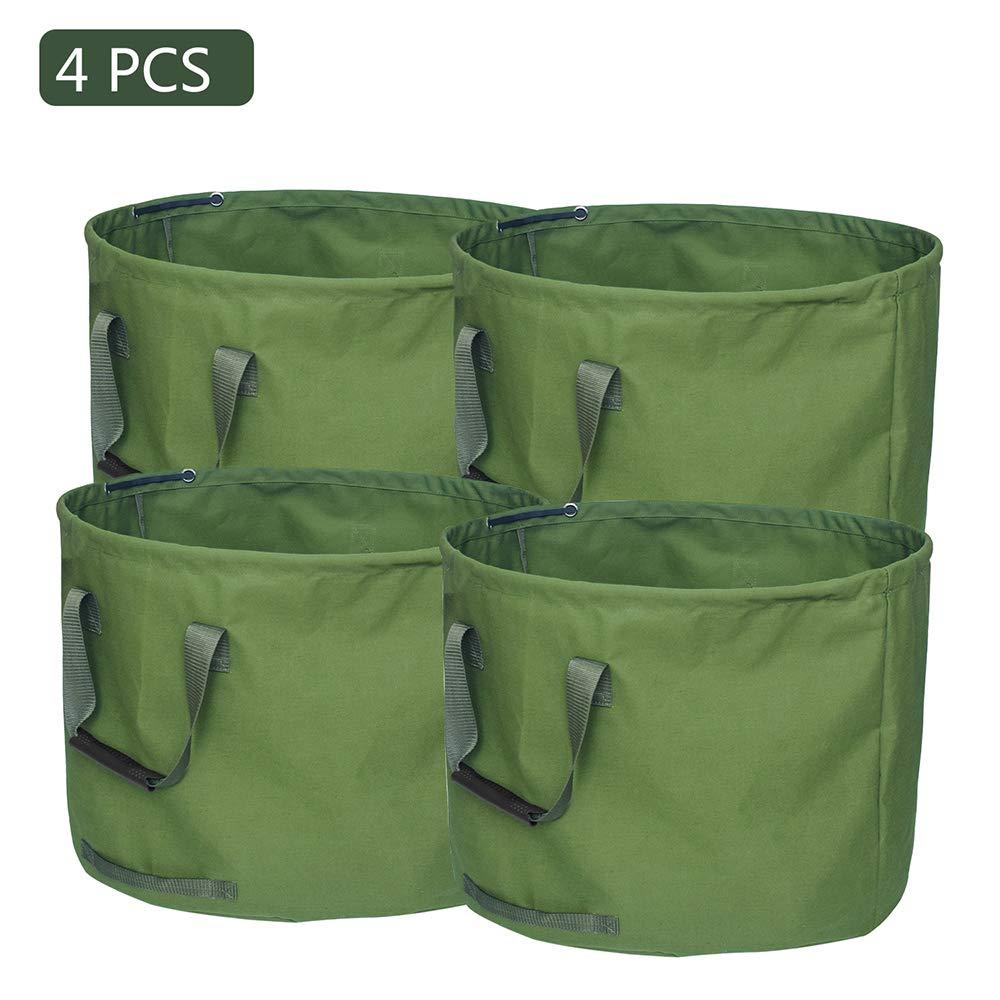 Peodelk Outdoor Large-Capacity Canvas Garden Garbage Bag Deciduous Bag Garden Garbage Bag with Handrail Yard Waste Bag by Peodelk