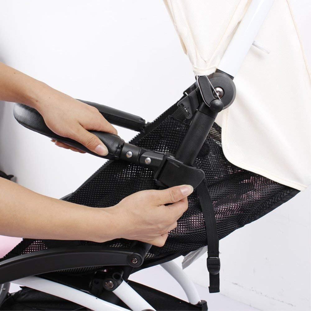 Barras de parachoques para cochecitos accesorios de coche para Babyzen yoyo apoyabrazos con errores de cuero negro de la PU