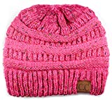 Funky Junque Womens Winter Knit Beanie Hat - Bubble Gum Pink (Small Image)