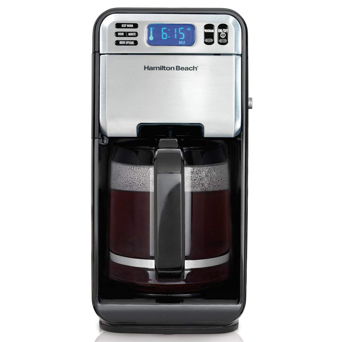 Hamilton Beach Automatic Coffeemaker with Permanent Filter and Electric Grinder