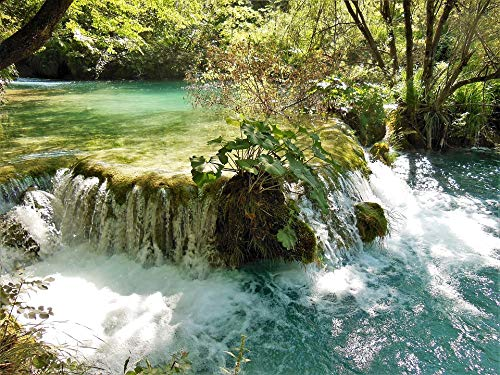 Home Comforts Canvas Print Water Plitvice Lakes National Park Vivid Imagery Stretched Canvas 10 x 14 ()
