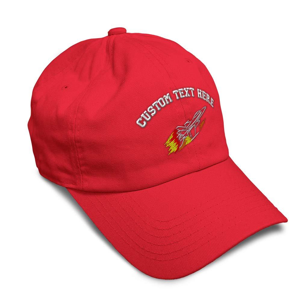 Custom Soft Baseball Cap Jet Fighter Embroidery Dad Hats for Men /& Women
