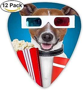 Sherly Yard 12 Pack Púas de guitarra personalizadas Perro gracioso con palomitas de maíz y gafas Usar bajo estándar Guitarrista Regalos de música: Amazon.es: Instrumentos musicales