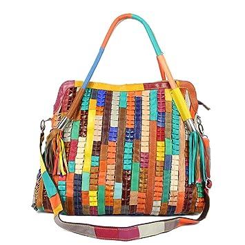 WUHX Frauen Farbe Leder Handtasche Multi-Funktions-Wasserdicht ...