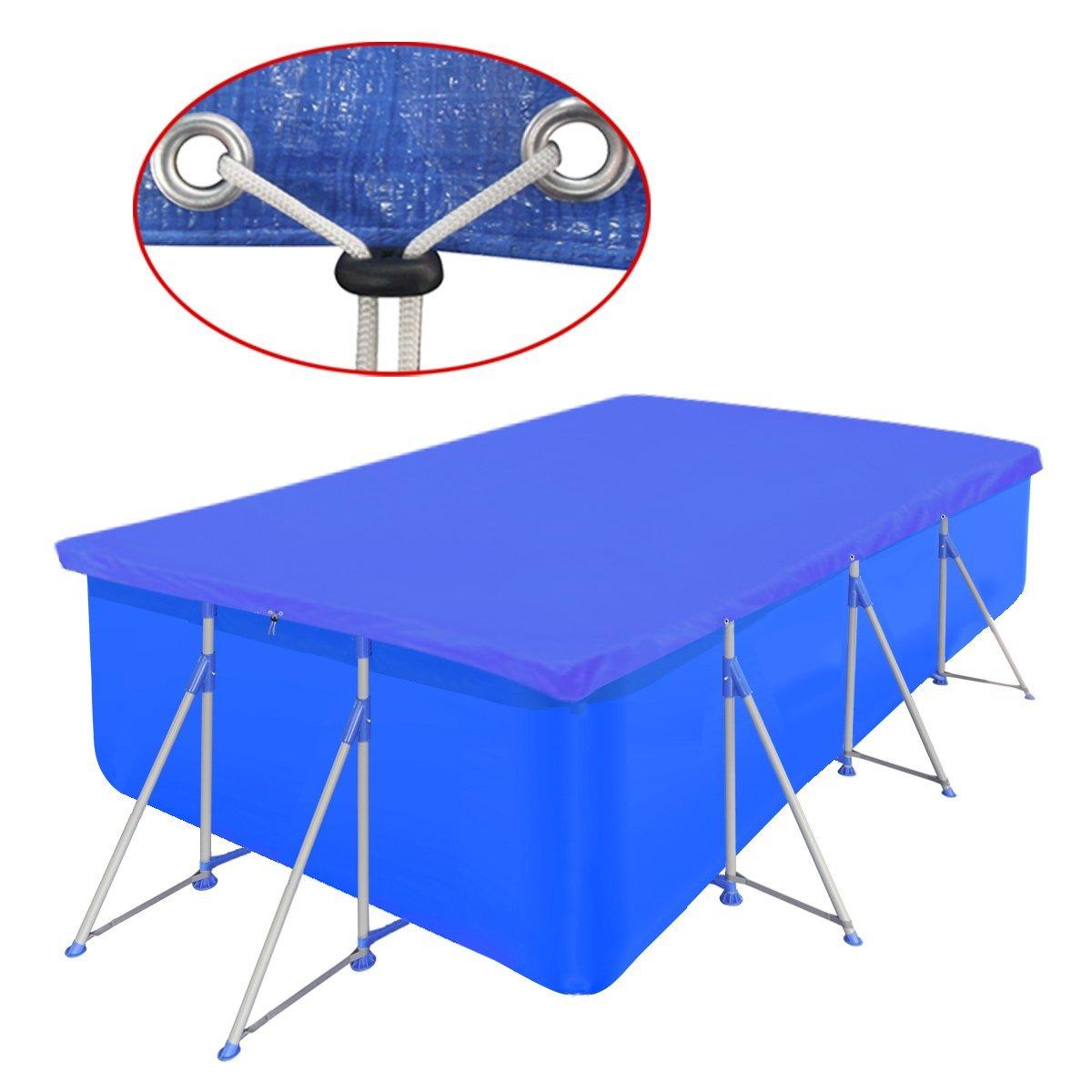 vidaXL Pool Cover PE Rectangular 90 g/sqm 400x207 cm Cloth Safety Protector