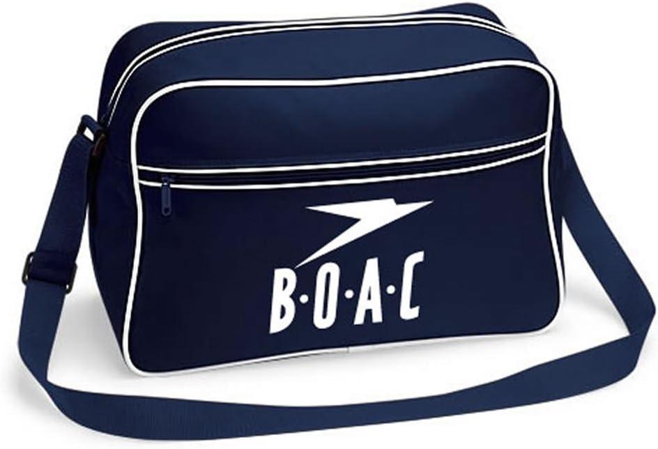 Retro BOAC Flight Shoulder Bag Luggage Pan Am (Navy Blue) As Used by John Lennon