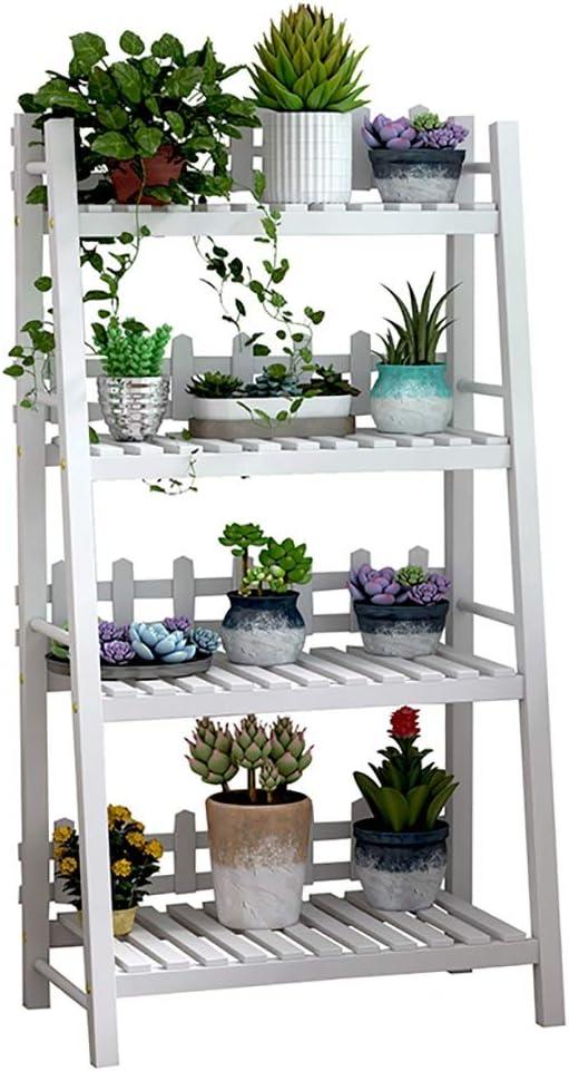 Estantes para plantas / estanteria jardin Soporte de flores de madera Soporte de exhibición de plantas multicapa Estante de pie Estante para flores Jardín interior blanco al aire libre estanterias de: Amazon.es: