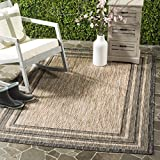 Cheap Safavieh Courtyard Collection CY8475-37312 Natural and Black Indoor/ Outdoor Area Rug (4′ x 5'7″)