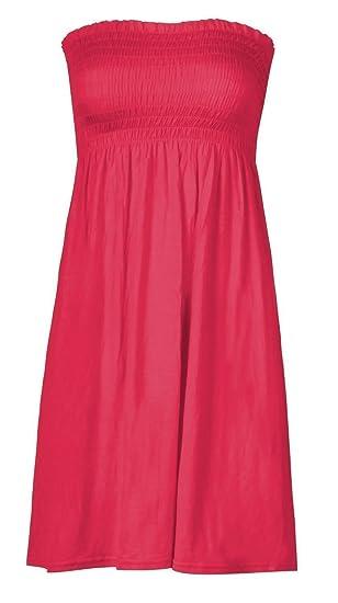 1cca755d70 Women's sheering boobtube bandeau strapless/sleeveless plain top ladies  sexy summer beach dress top small