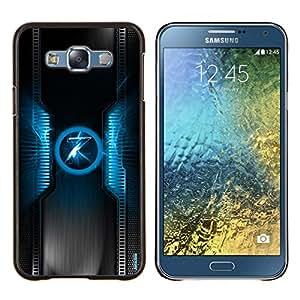 LECELL--Funda protectora / Cubierta / Piel For Samsung Galaxy E7 E700 -- Azul 7 --