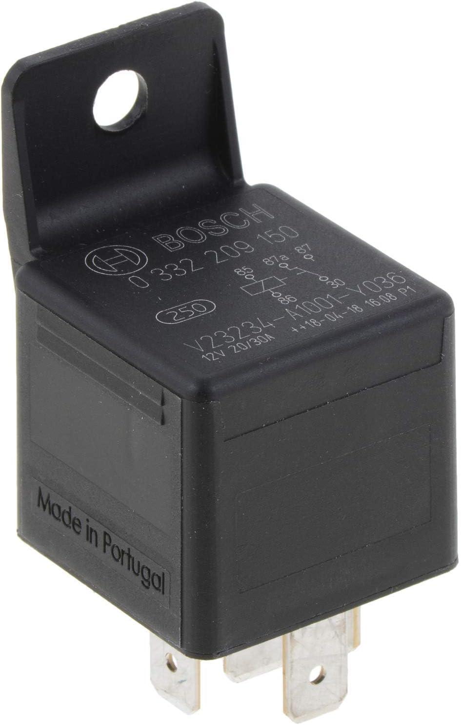 5 Pins, 12 V, 20/30 A, Bosch 0332209150 Changeover Mini Relays: Automotive