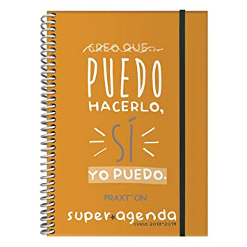 Agenda Escolar PRAXTON, Din-A6 1D/P 2018/19 (Naranja ...