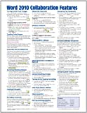 Microsoft Word 2010 Collaboration Features Quick Reference Guide (Cheat Sheet of Instructions, Tips and Shortcuts - Laminated Card, Beezix Inc., 193622044X