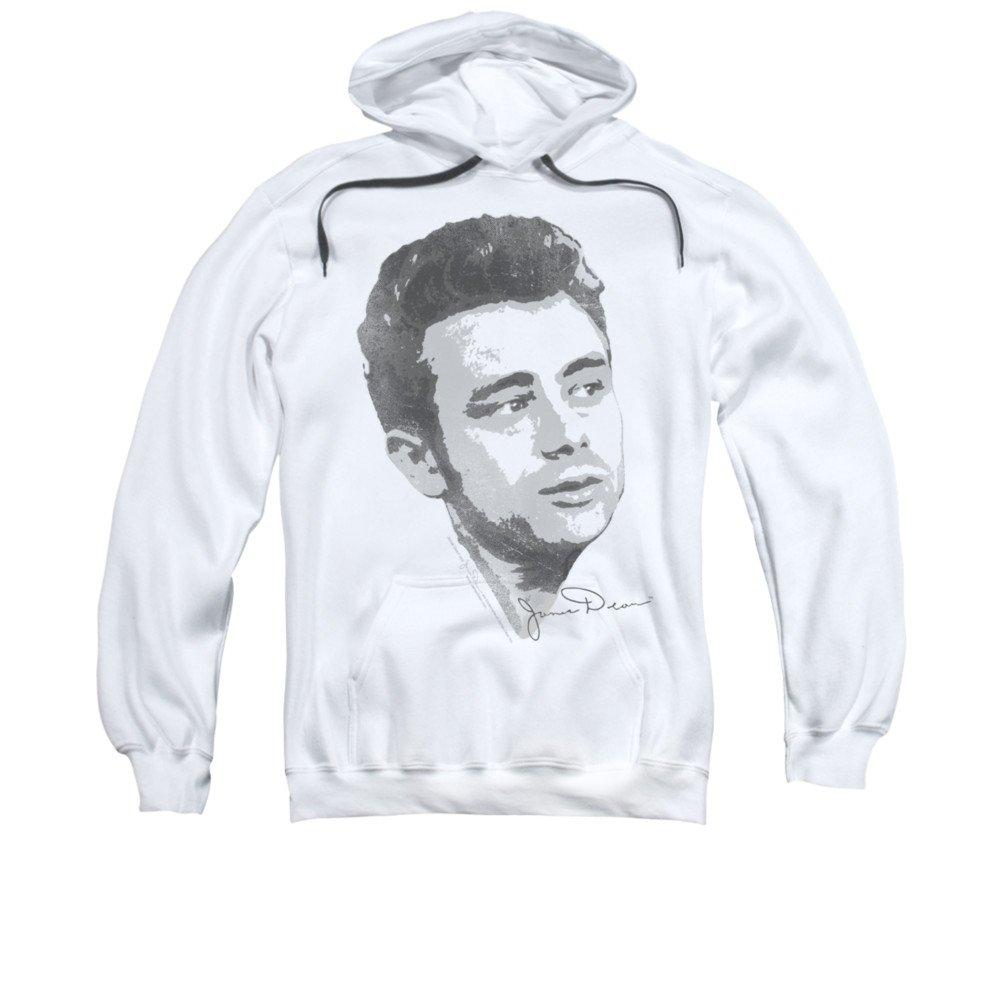 2Bhip James dean hollywood-ikone grafik b & w vintage gesicht hoodie für Herren