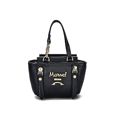 Lady Mini Handtasche Weiblich Leder Handtasche Kleine Quadratische Tasche Münztüte Kleine Brieftasche Handtasche,Pink-OneSize CHENGXIAOXUAN