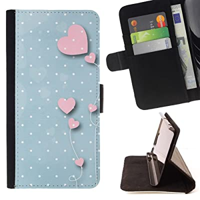 FJCases Amor Corazón Estampado Carcasa Funda Billetera con Ranuras para Tarjetas y Soporte Plegable para HTC U11