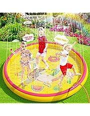 Peradix 170 Cm Kids Sprinkler Pad Mat Kinderen Zomer Outdoor Water Splash Play Mat Gazon Opblaasbare Sprinkler Kussen Speelgoed