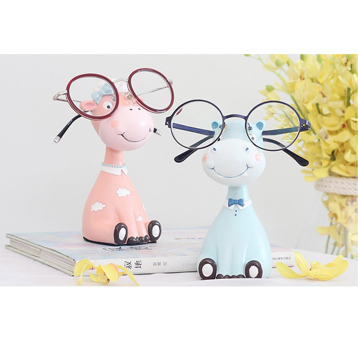 Gift for Christmas or Birthday to Your Loved Ones Adorable Animals Zoo Eyeglass Spectacle in 2 pcs/Eyewear Holder by NaNa (Image #4)