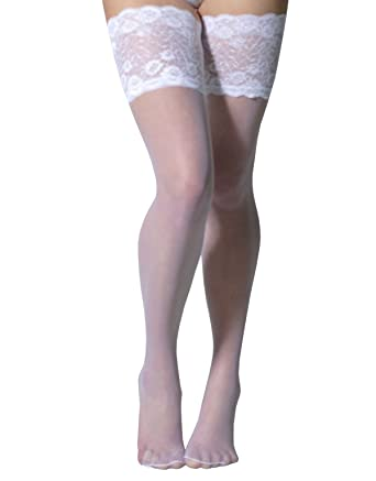 0bb8657b6b867 BRIDAL HOLD UPS WITH WIDE LACE | SHEER STAY UP TIGHTS |WHITE, IVORY ...