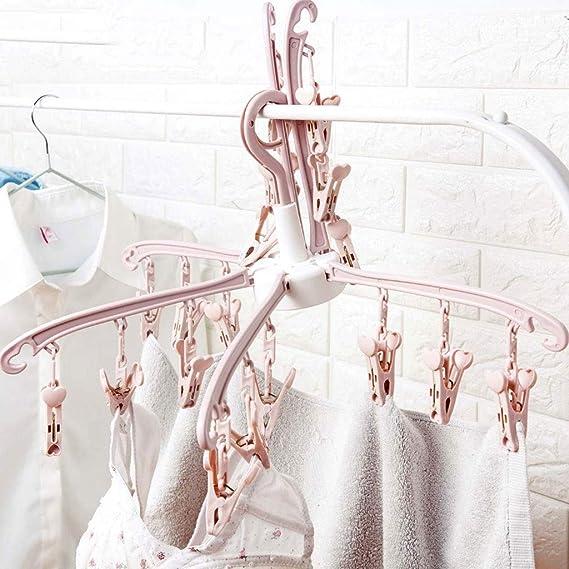 Amazon.com: Perchero de secado plegable de 6 garras ...