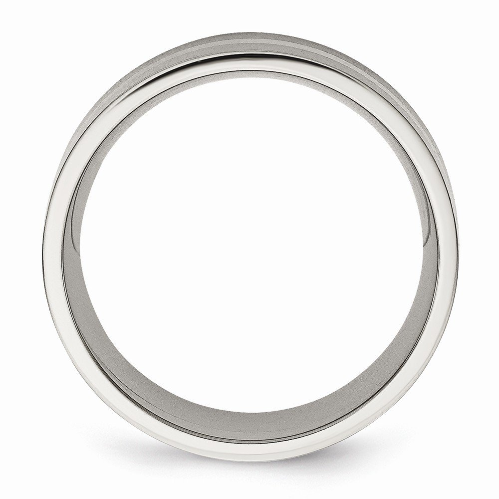 Gemini His /& Her Groom /& Bride Plain Dome Court Comfort Fit Matching Wedding Engagement Titanium Rings Set 6mm /& 4mm Width Men Ring Size 14 Women Ring Size 7.5