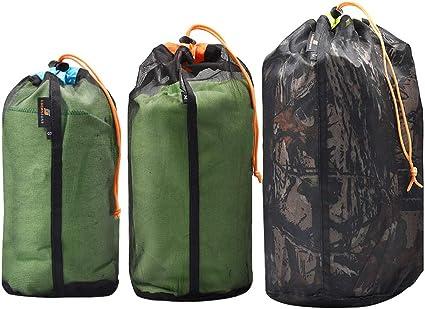 Camping Travel Bag  business trip Ultralight Mesh Drawstring Bag Storage Bag