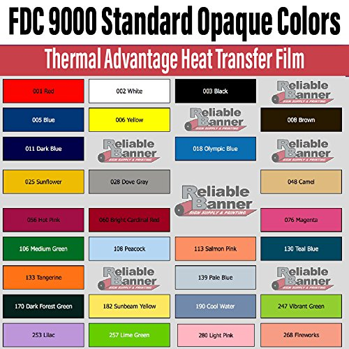 002 Advantage - FDC 9000 Standard Opaques - 15in x 10 yards - Thermal Advantage Heat Transfer Film (002 - White)