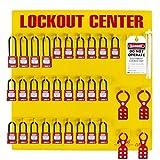 ZING 7116 RecycLockout Lockout Station, 28 Padlock, Stocked
