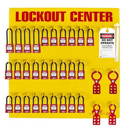 ZING 7116 RecycLockout Lockout Station, 28 Padlock, Stocked by Zing Green Products