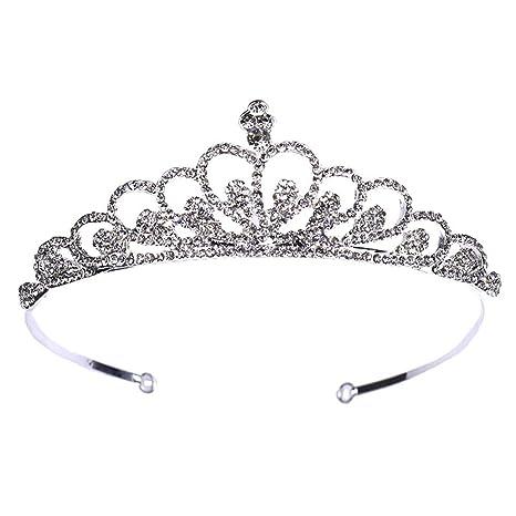 vendido en todo el mundo reunirse precio de fábrica DRHYSFSA Boda Novia de Diadema Corona Chica Diadema Princesa ...