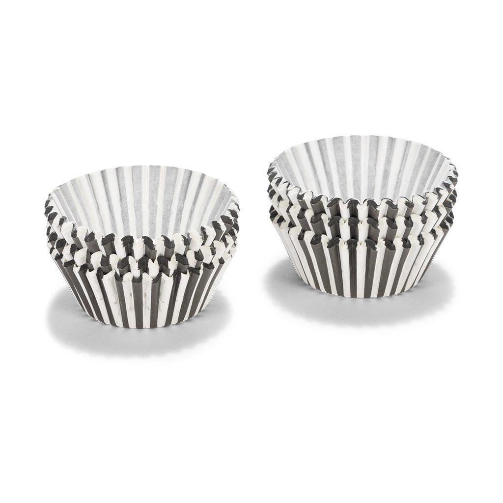 Patisse Paper Cupcake Cases Set, Black/White by patisse