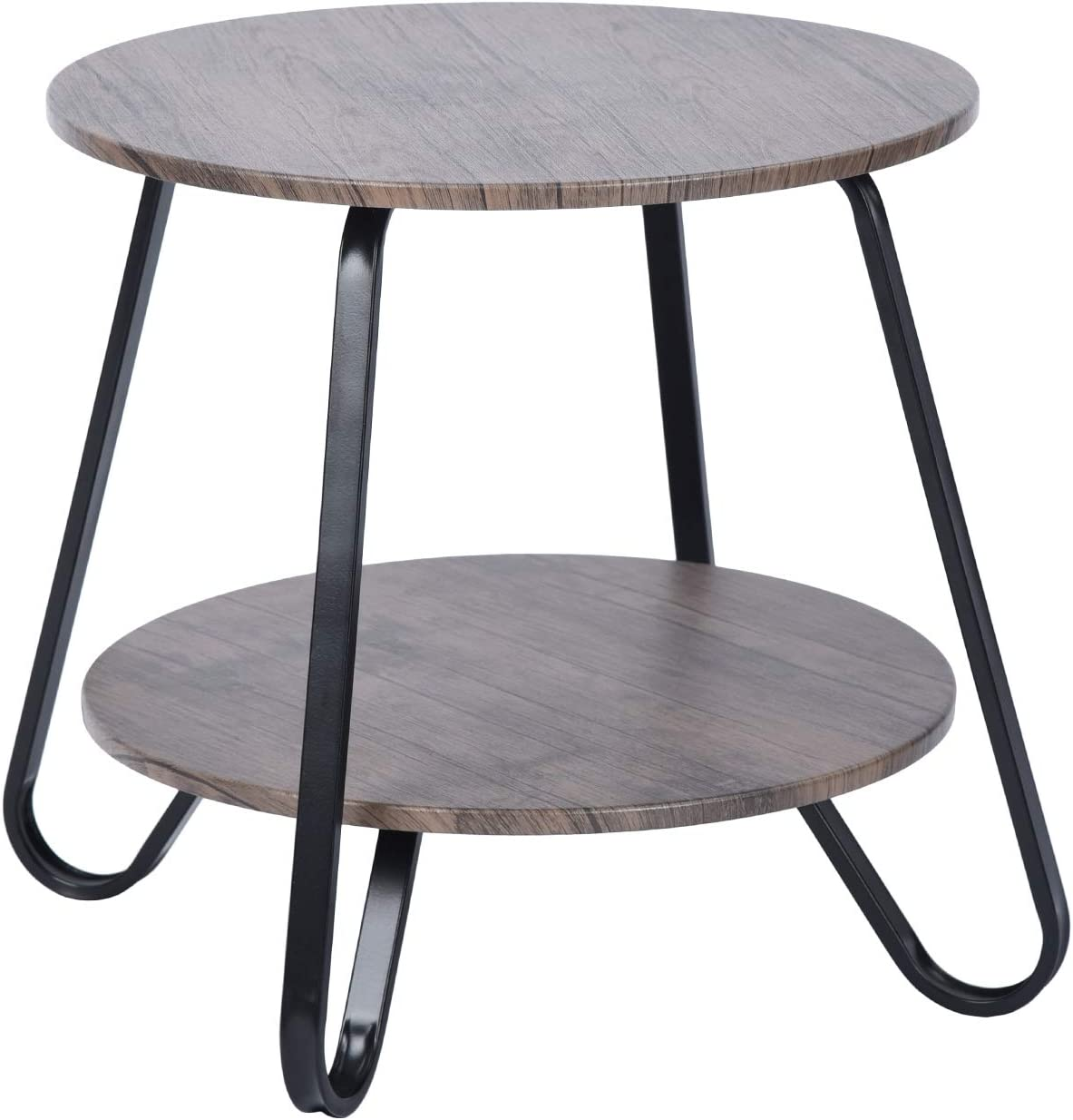 Small Coffee Table Round Mid Century Vintage Steel Frame Side Table End Table fo
