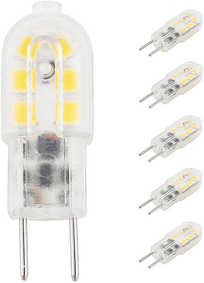 Bonlux LED 5-Packs 12V 3W G6.35 Bombilla de luz LED blanco cálido 3000K Bipin JC Tipo 20W halógena reemplazo G6.35 / bulbo de lámpara de escritorio GY6.35, acento, la exhibición, la iluminación del pa