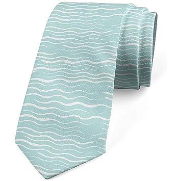 Corbata para hombres, dibujo abstracto de ondas de tiza, 8 cm ...