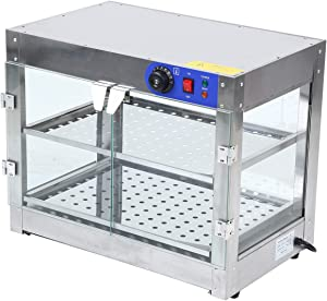 Samger 750W Commercial Countertop Food Pizza Warmer Display Cabinet Case 2-Tier
