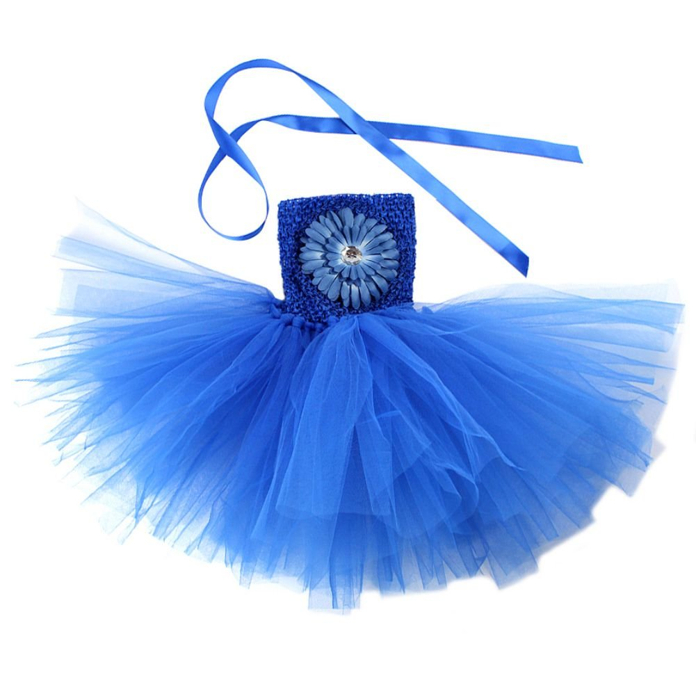 Zhengpin Baby Girl Peony Daisy Flower Princess Party Wedding Tulle Tutu Dress 1-2Y