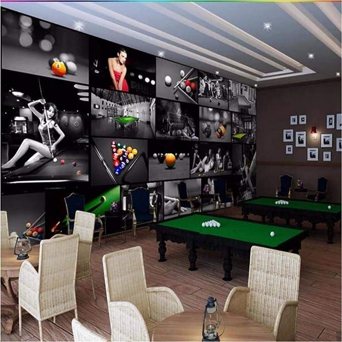 Ytdzsw Sala de billar europea Sala de tenis de mesa 3D Wallpaper Mural Impresión de fotos Papel de pared Decoración de pared Pintura Murales Tamaño personalizado-300X210CM: Amazon.es: Bricolaje y herramientas