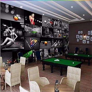 Ytdzsw Sala de billar europea Sala de tenis de mesa 3D Wallpaper ...