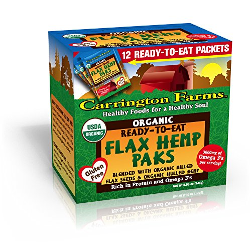 Carrington Farms Organic Flax Hemp Paks, 12 Packets (Pack of 6)