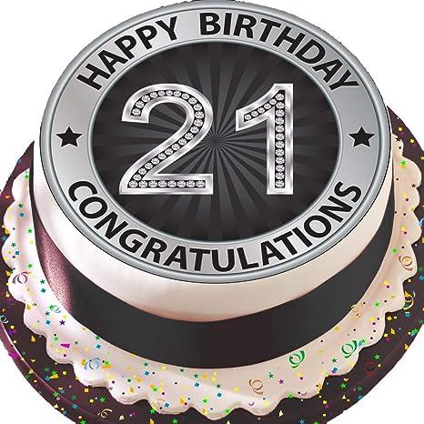 PRECUT Edible Decoration Icing Sheet 7.5 inch Round Cake Topper Black Gold 70TH Birthday Z07