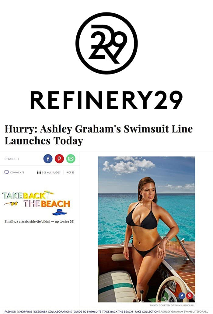 1019954502 Amazon.com  Swimsuits for All Women s Plus Size Ashley Graham Icon Bikini  Set 4 Black  Clothing