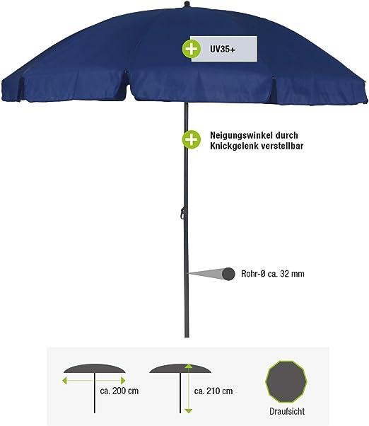 greemotion 127163 Sombrilla para Playa, Azul Marino, 240x240x238 cm: Amazon.es: Jardín