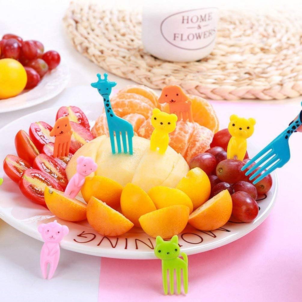 Mouchao Cartoon Kinder Zahnstocher flei/ßige Ameisen Obst Gabeln Dessert Salat Gabeln