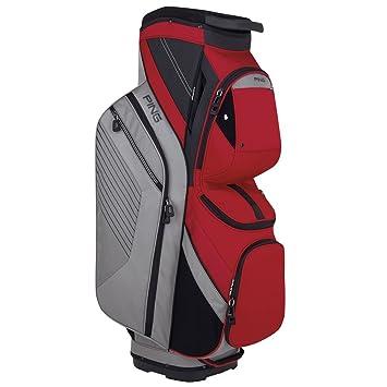 PING 2018 Traverse 164 Carro Bolsa de Golf 13 Plata/Rojo ...
