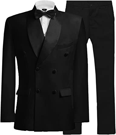 Michealboy Slim fit 2PC Suit for Men Two Buttons Casual//Formal//Wedding Tuxedo