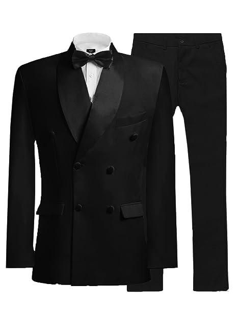 Amazon.com: jydress traje de hombre doble hilera 2 piezas ...