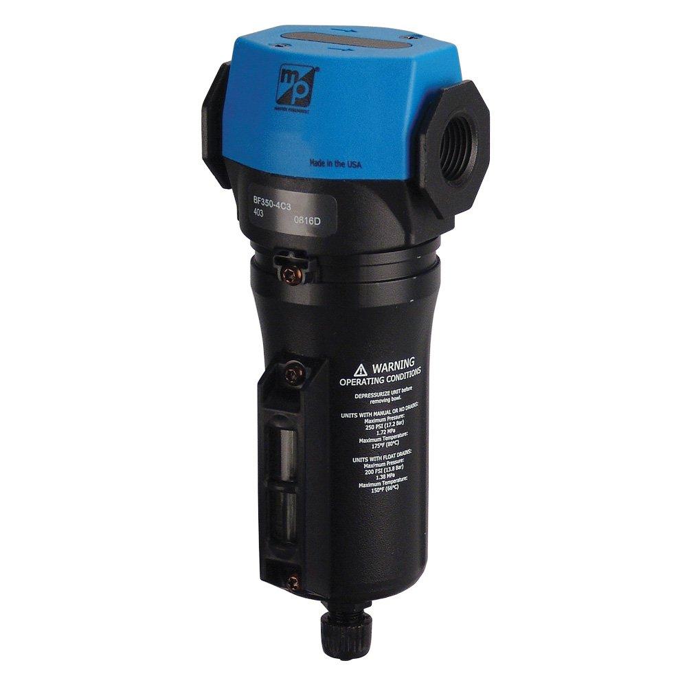 Master Pneumatic 1/2'' Inline/Modular Water Separator, Made in USA, BF350-4C3