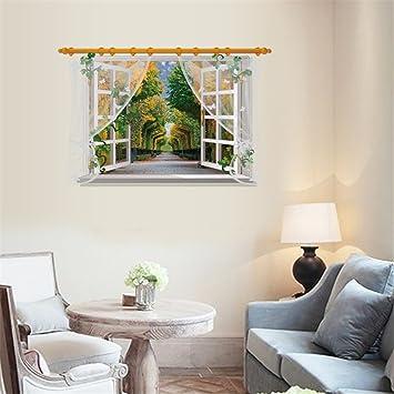 Die Nachahmung von Windows Landschaft Wand Aufkleber für ...